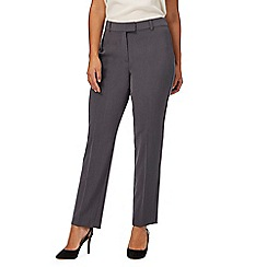 The Collection Petite - Grey slim leg petite trousers