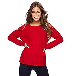 The Collection Petite - Red chunky knit petite jumper
