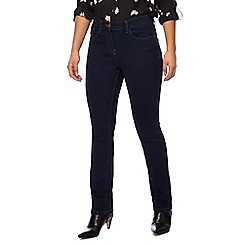 The Collection Petite - Blue straight leg petite jeans