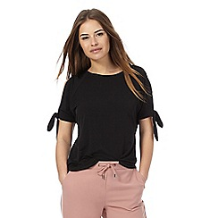 The Collection Petite - Black cold shoulder top