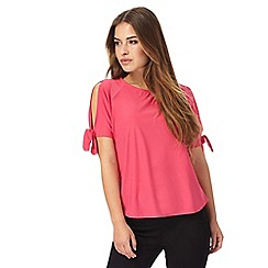 The Collection Petite - Pink cold shoulder top