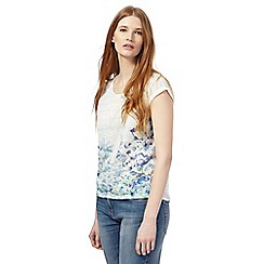 The Collection Petite - White floral stud embellished petite top