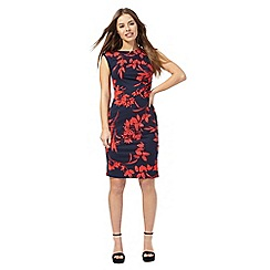 The Collection Petite - Navy floral print petite dress