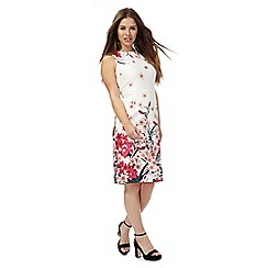 The Collection Petite - White floral print petite scuba dress