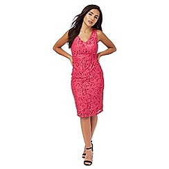 The Collection Petite - Pink floral lace petite dress