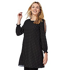 The Collection Petite - Black spot print petite tunic