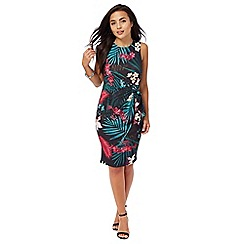The Collection Petite - Multi-coloured tropical print petite dress