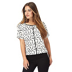 The Collection Petite - Ivory spot print petite top