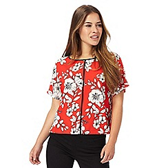 The Collection Petite - Red floral print petite top