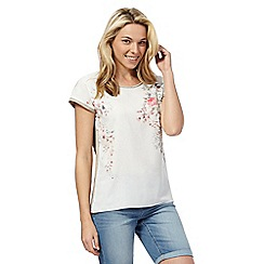The Collection Petite - Ivory floral print top