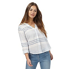 The Collection Petite - Blue striped petite shirt