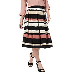 The Collection Petite - Multi-coloured striped petite skirt