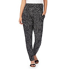 The Collection Petite - Black smudge print petite trousers