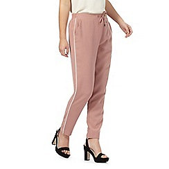 The Collection Petite - Pink tapered piped petite trousers