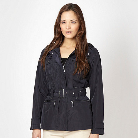Maine New England - Navy belted jacket