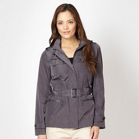 Maine New England - Light grey belted jacket