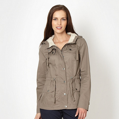 Maine New England - Taupe cotton parka jacket
