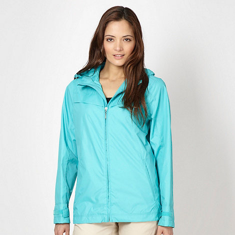 Maine New England - Bright turquoise shower resistant mac jacket
