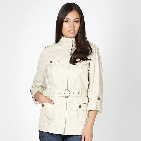 Maine New England - Natural belted four pocket jacket