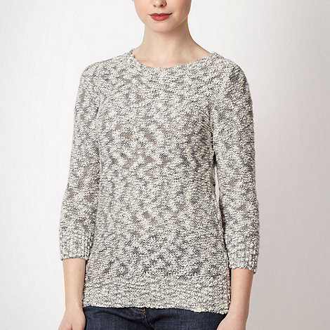 Maine New England - Natural textured knit jumper
