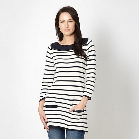 Maine New England - Off white striped knit tunic