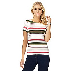 Maine New England - Bright pink striped top