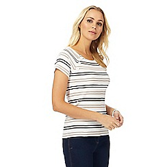 Maine New England - White striped jersey top