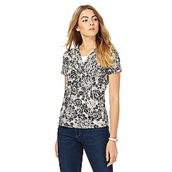 Maine New England - Khaki floral print top