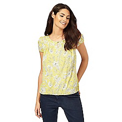 Maine New England - Lime floral print top