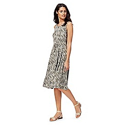 Maine New England - Khaki dot print jersey dress