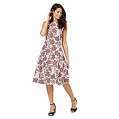 Maine New England - Bright pink floral print dress
