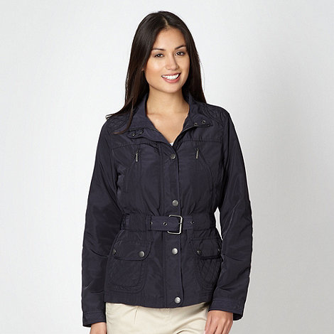Maine New England - Navy short quilt detail jacket