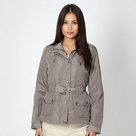 Maine New England - Taupe short quilt detail jacket