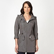 Grey Waterproof Coat - Debenhams