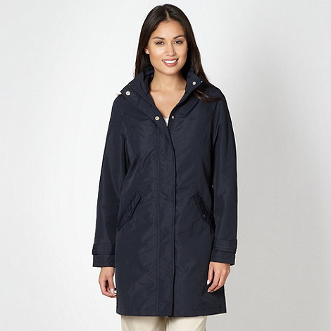 Maine New England - Navy long shower proof jacket