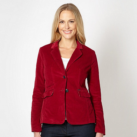 Maine New England - Dark red cord blazer