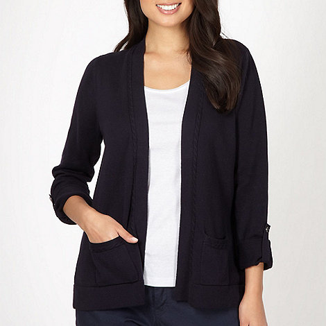 Maine New England - Navy button back cardigan