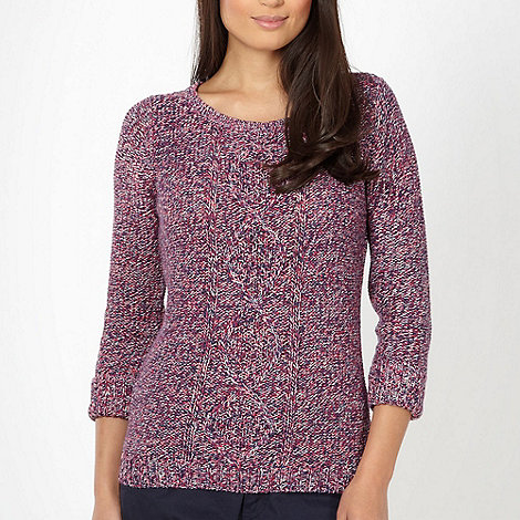 Maine New England - Dark pink tweed jumper