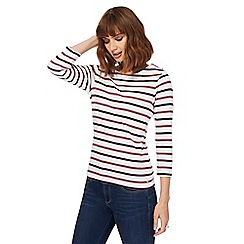Maine New England - Mauve stripe stop