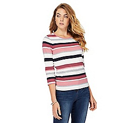 Maine New England - Multi-coloured striped print top
