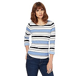 Maine New England - Light blue striped jersey top