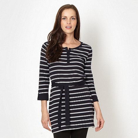 Maine New England - Navy striped tunic top