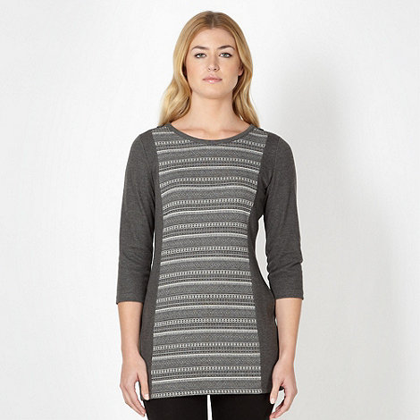 Maine New England - Grey jacquard panel tunic