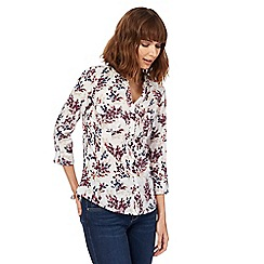 Maine New England - White floral print shirt