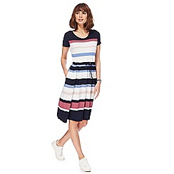 Maine New England - Multi-coloured striped knee length dress