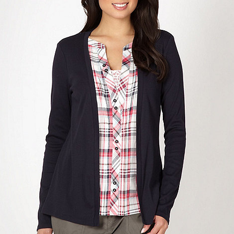Maine New England - Navy 2 in 1 checked shirt