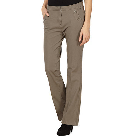 Maine New England - Taupe 2 way stretch trousers