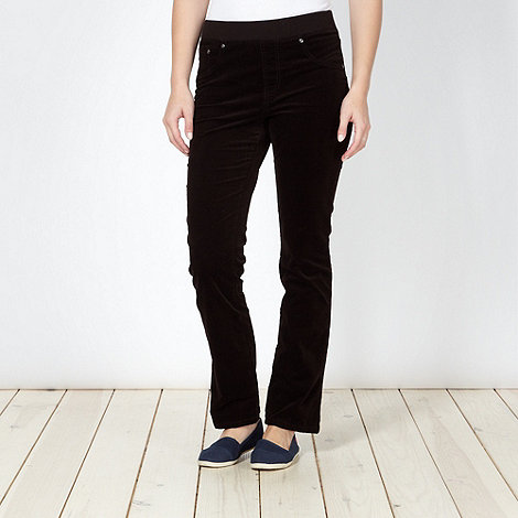 Maine New England - Chocolate casual corduroy leggings