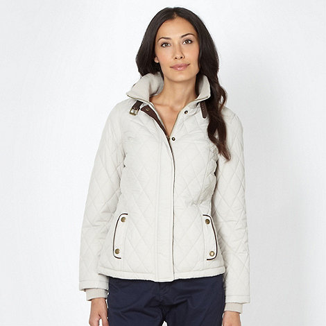 Maine New England - Beige short quilted jacket