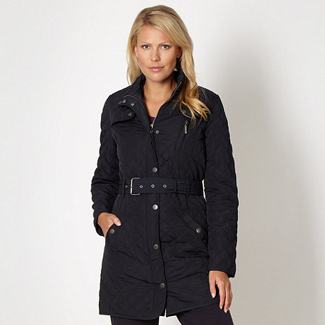 Maine New England - Navy long quilted coat